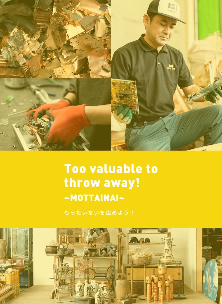 Too Valuable to throw away! ~MOTTAINAI~